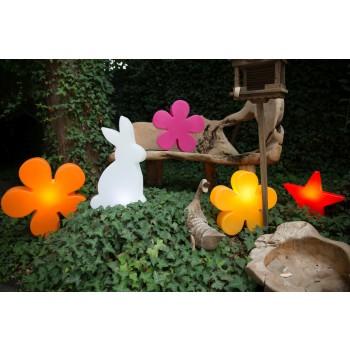 Flor brillante 40 cm 32404W 8 Temporadas Diseño